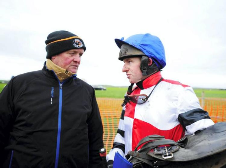 Colin McBratney pictured with his jockey Noel McParland
